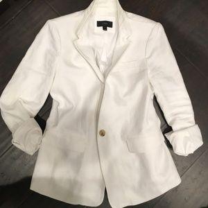 J.Crew White Linen Blazer - size 10